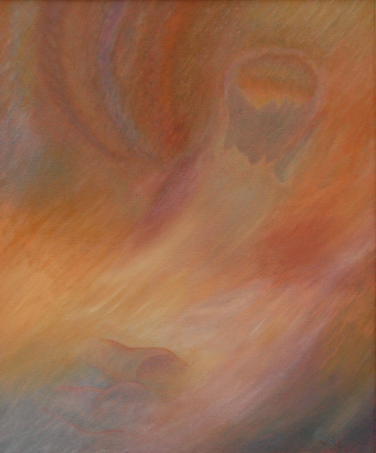Bodele Valley  (oil on canvas, 50x60 cm), 2007
