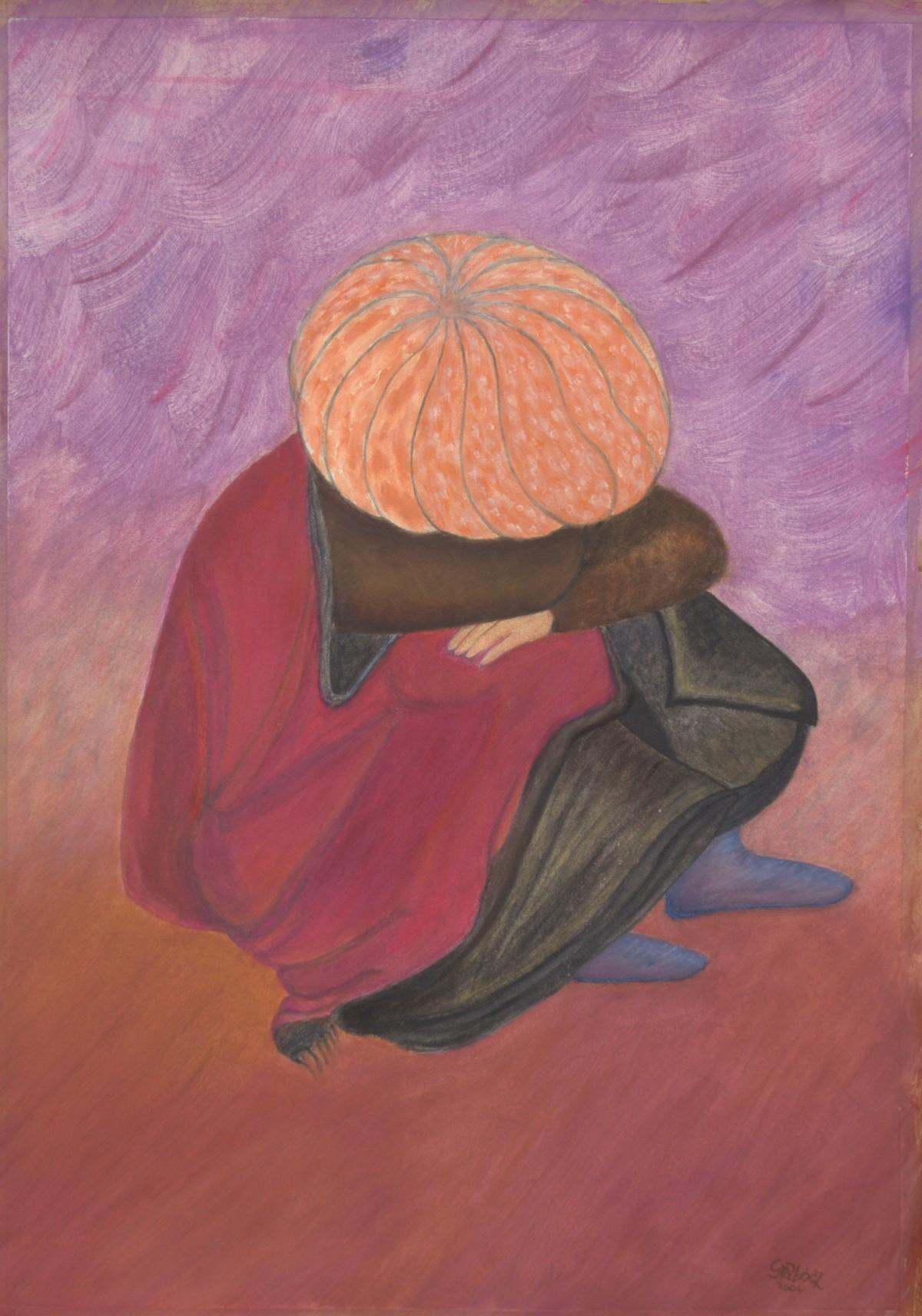 Rubáí születik (akril, karton, 50x70 cm), 2004