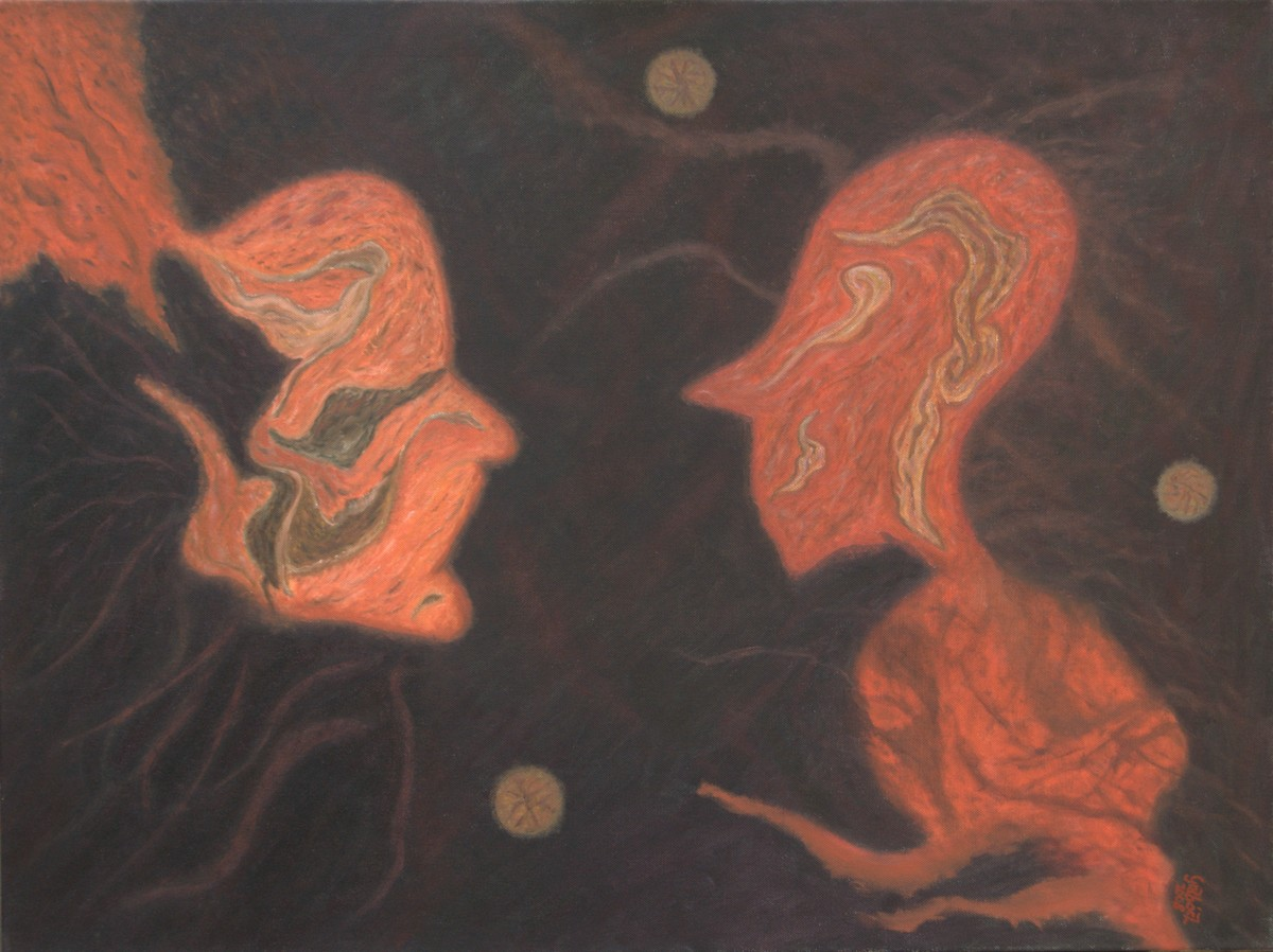 Encounter  (oil on canvas, 80x60 cm), 2008