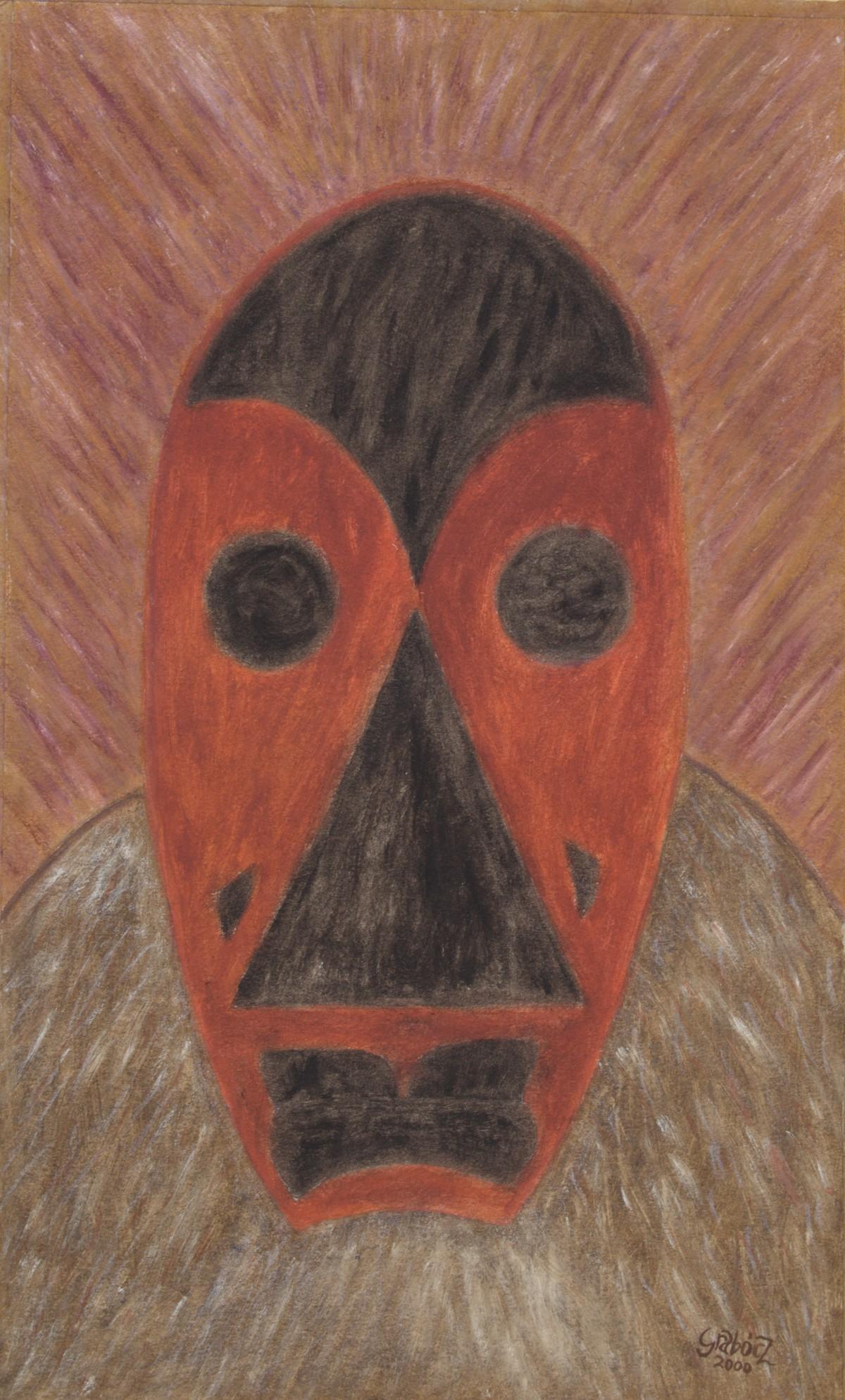 Firebug Mask (acrylic, cardboard, 30x49 cm), 2000