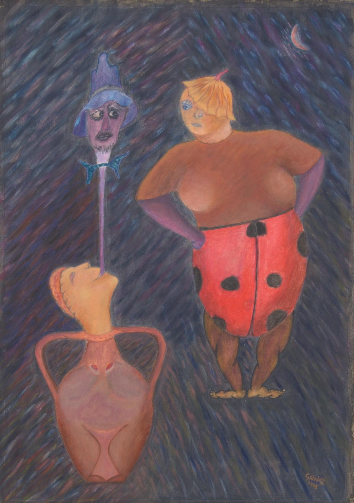 Ladybird (acrylic, cardboard, 50x70 cm), 2005