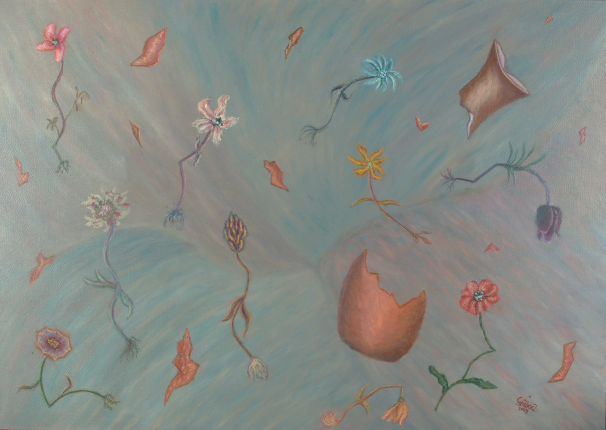 Nature Morte  (acrylic on canvas, 70x50 cm), 2008