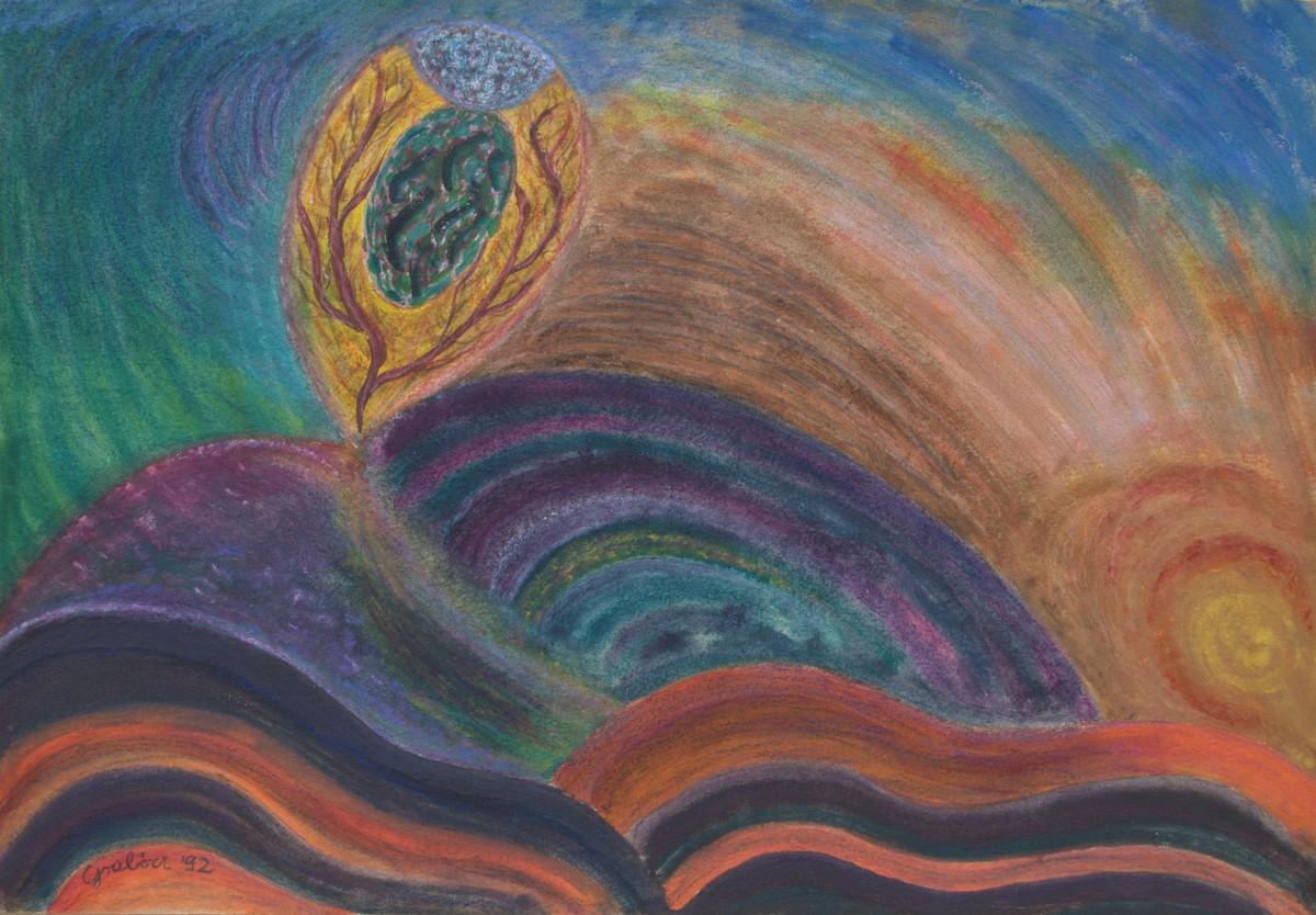 Rhythms (acrylic, cardboard, 49x34 cm), 1992