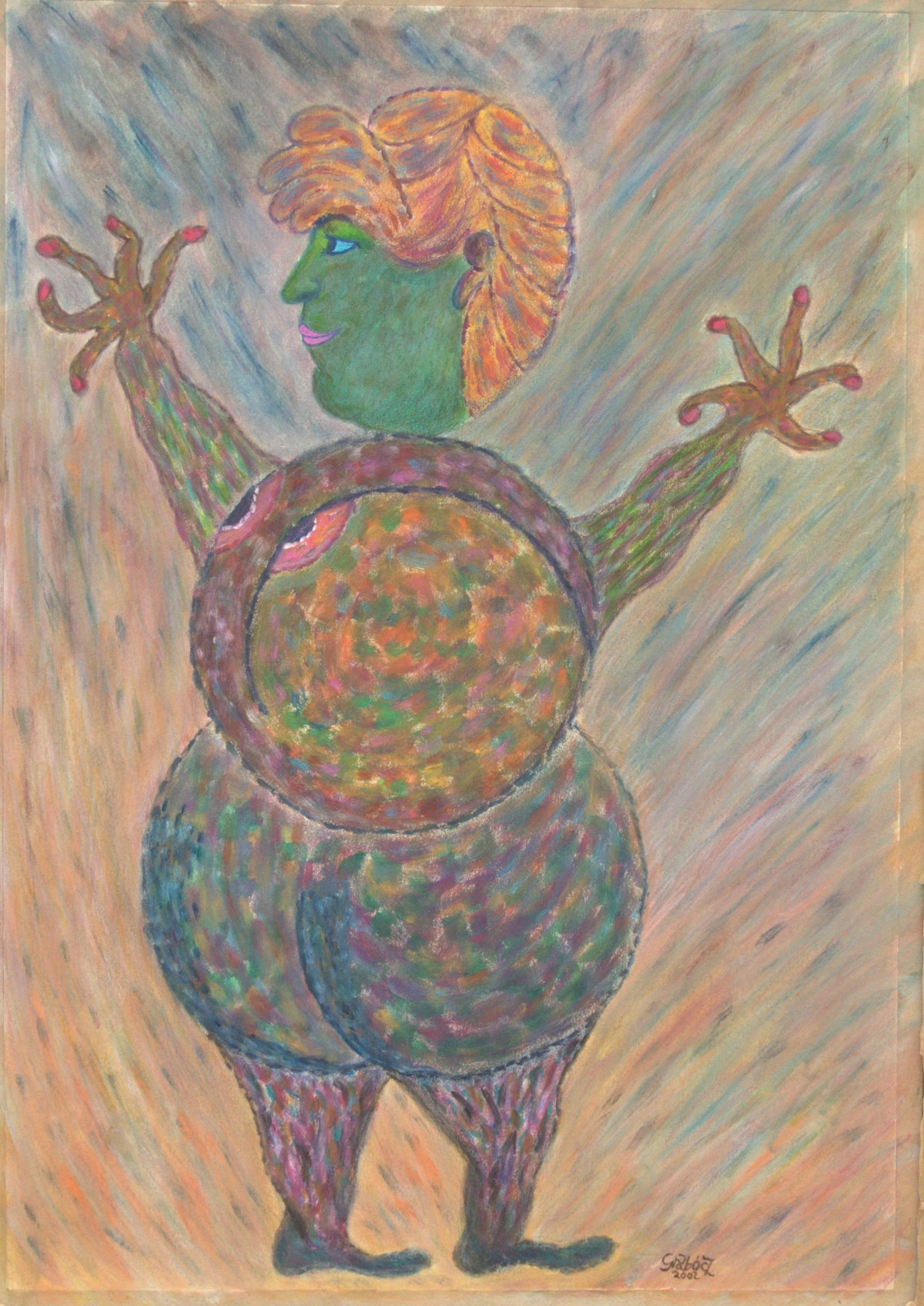Woman  (acrylic on cardboard, 50x70 cm), 2002
