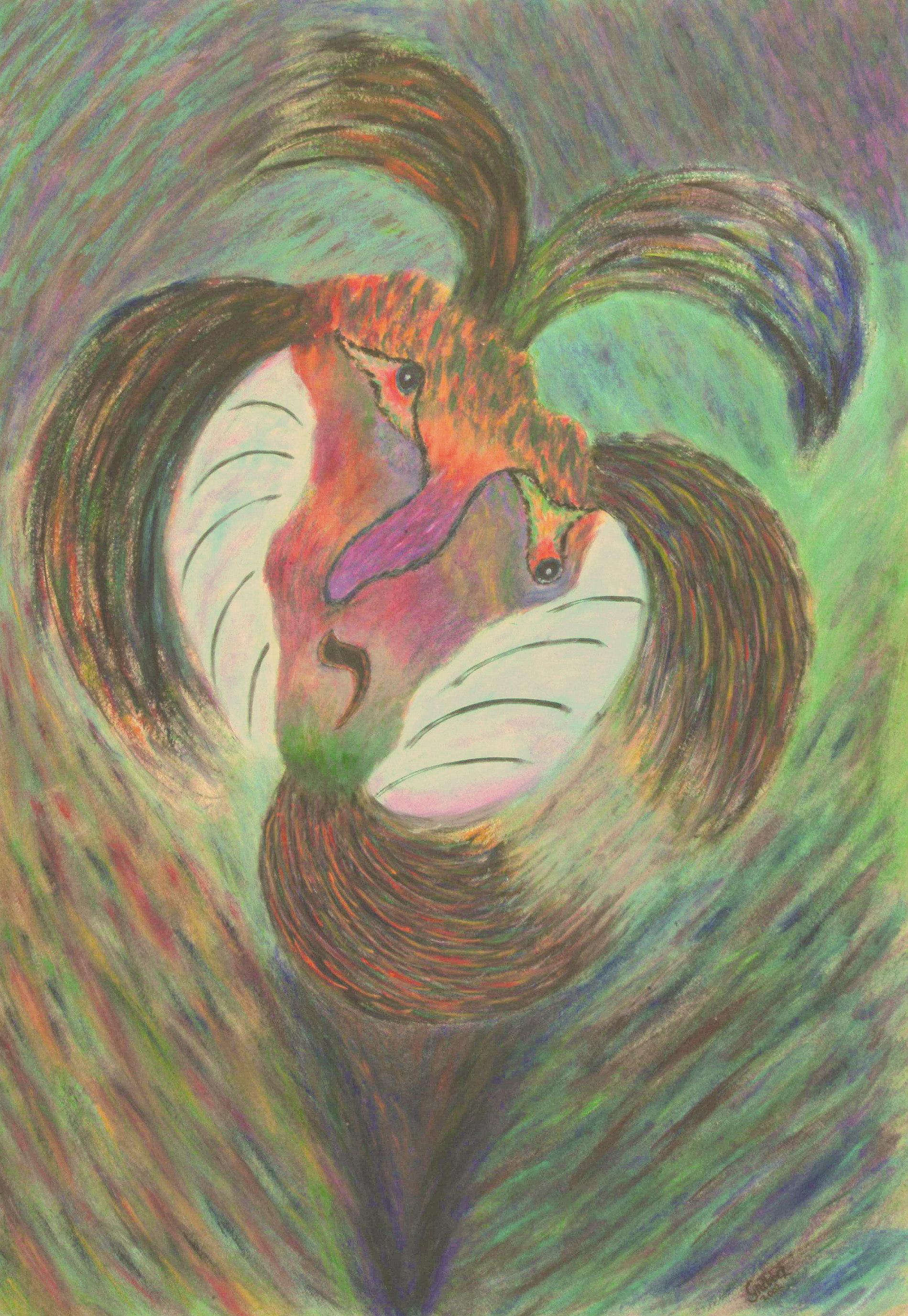 Örvény (akril, karton, 50x70 cm), 2002